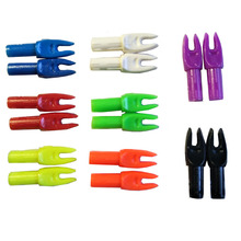 50pcs Archery Arrow Nock OD8mm Plastic Arrow Pin Nock Used On Diameter 6.0mm Arrow Shaft Hunting