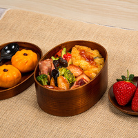 Japanese style travel box natural bento boxes sushi wood case healthy kitchen tableware bowl food container lunch picnic storage