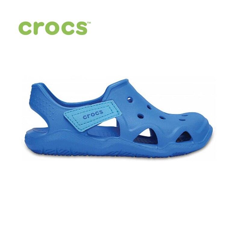 купить CROCS Swiftwater Wave K KIDS or boys/for girls, children, kids TmallFS shoes по цене 887.63 рублей