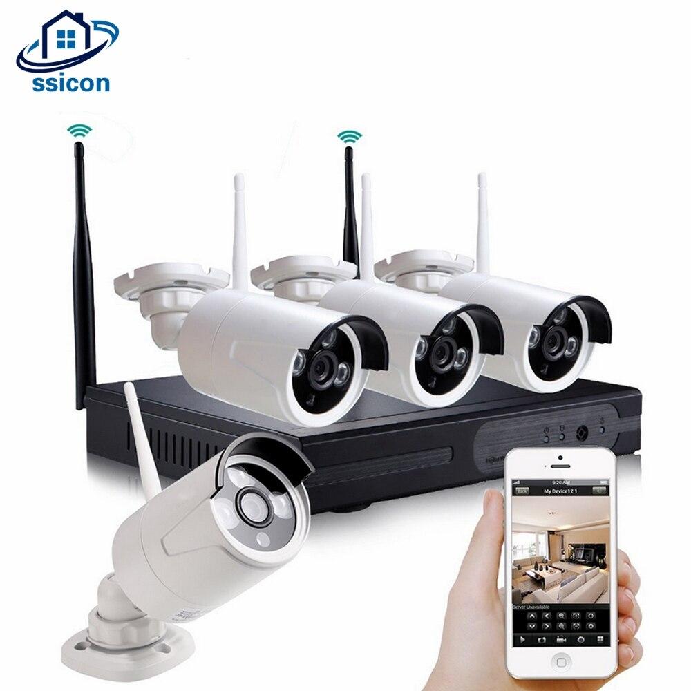 SSICON 4CH 960 P Kit de caméra sans fil extérieure étanche 1.3MP 20 M IR Distance balle Wifi système de caméra de sécurité Plug And Play