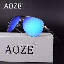 AOZE Luxury Aviator Polarized Men for women Rimless Sunglasses Aluminum Magnesium Brand Designer Eyewear Accessories