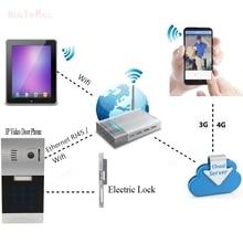 Wireless WIFI IP Video Door Phone via Smartphone Control,remote control door access by iphone,andriod smartphone&Tablets