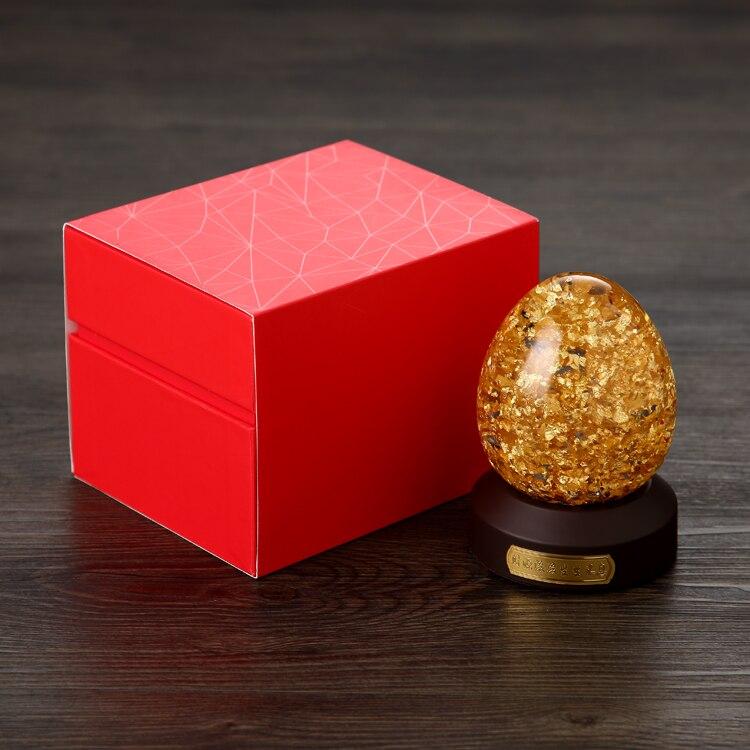 24 K Oro Fiocchi di Forma di Uovo Globo di Neve Fortunato Uovo D'oro Con Scatola Regalo Arredamento Best Regalo Taiwan Fatto - 2
