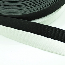 5 yards/lot Flat Elastic Band Sewing Clothing Accessories Nylon Webbing Garment trousers Sewing Accessories black white цена и фото