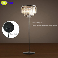FUMAT Floor Lamp K9 Crystal Modern Floor Lights Lustre Foot Switch Lamp for Living Room Bedroom Study led light Height 63 inch