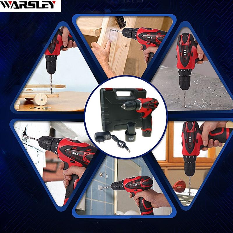 12 V 2 akumulatory Wkrętarka elektryczna Wiertarko-wkrętarka - Elektronarzędzia - Zdjęcie 6