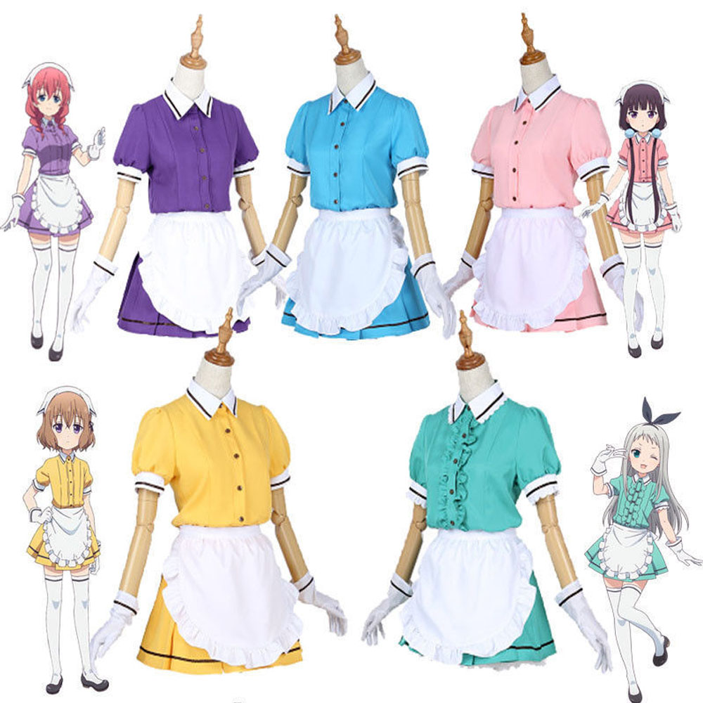 Anime Blend S Kanzaki Hideri Coffee Maid Sakuranomiya Maika Cosplay Costume Uniform Suit Party Costume Gifts