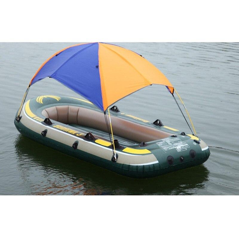 2 personne gonflable PVC bateau abri de soleil auvent ombre de soleil couverture de pluie tente de pêche pour bateau de pêche accessoires Kayak canoë Kit