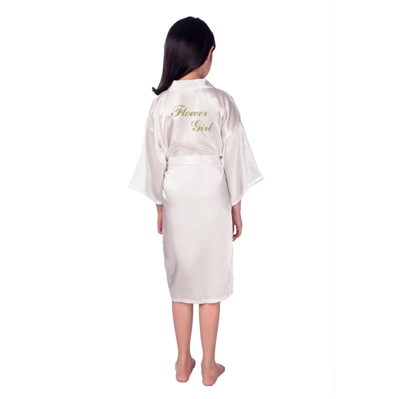 New Fashion 5pcs/lot Flower Girl Stain Robes Bathrobe Girls Kimono Solid Robe Children Peignoir Enfant B27 Mother & Kids Robes