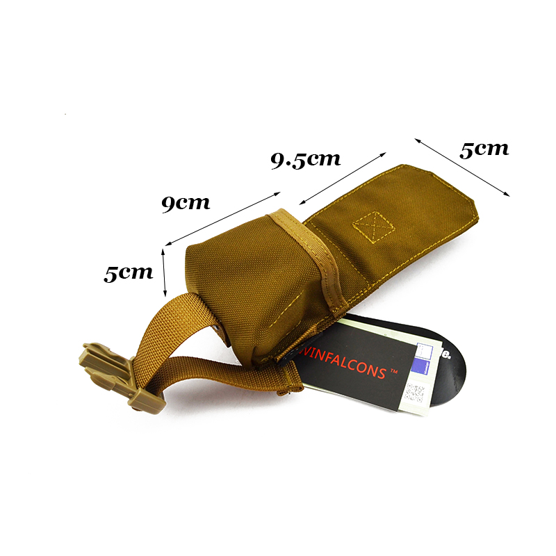 MOLLE Single Frag Grenade Pouch CORDURA Modular Combat Hunting Camping Climb Tactical Hike TW-M009