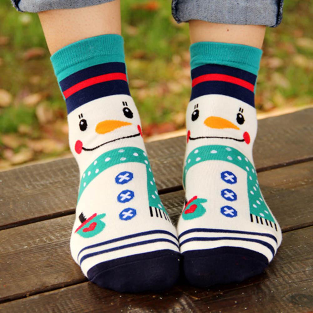 Color Random Women Soft Winter Socks Christmas Warm Cotton ...