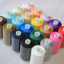 Высокое качество, 20 цветов, машина#402, нить для вышивки, 1000 ярдов, мини-Королевская катушка для певицы бернины, эльны, janome brother bernina