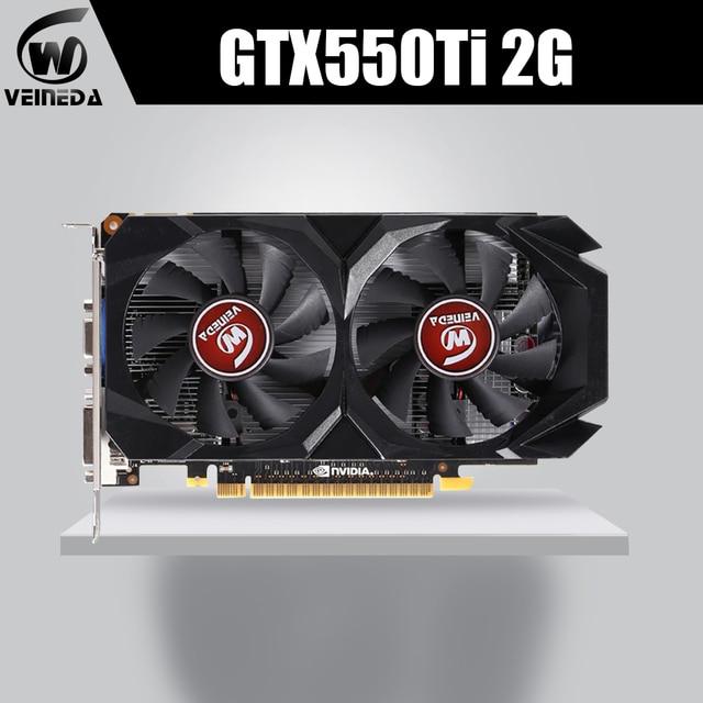 VEINEDA Video Card GPU GTX550Ti 2GB GDDR5 128BIT 783/3400MHz For NVIDIA GeForce GTX550Ti 2GB
