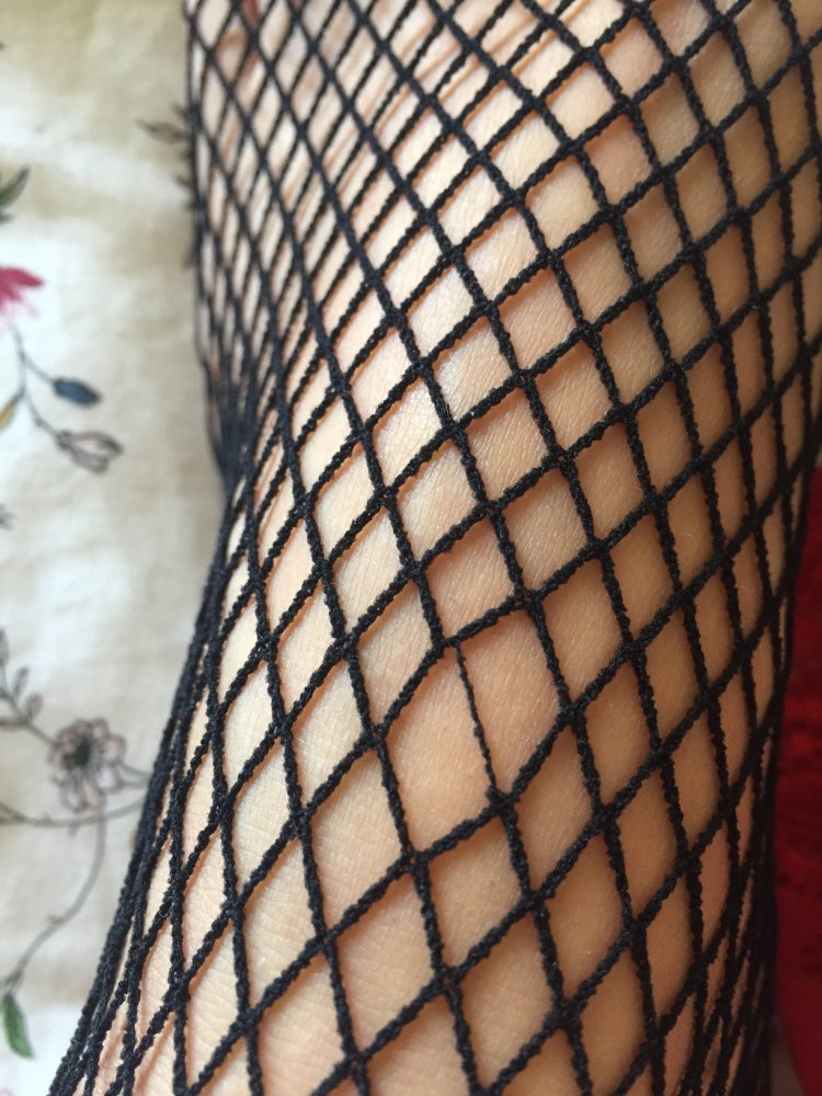 1Pair Newly Design Women Sexy Mesh Net Stockings Thigh Highs Hosiery Hot Sexy Female Stockings Black/Red