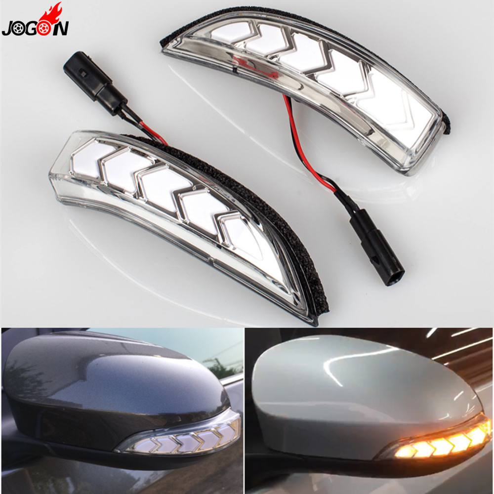 LED Side Mirror Dynamic Turn Signal Sequential Light For VW Passat B8 2015-2017 Black