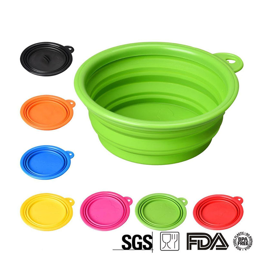 Silicone Collapsible Bowl Cup with for Outdoor Camping Hiking Travel Folding Bowls High Quality Selling Bowl