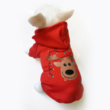 Pet Dog Christmas Clothes Puppy Sweaters Tree Pattern Costume Hoodie Outwear Thick Coat Apparel For Dogs S-XL