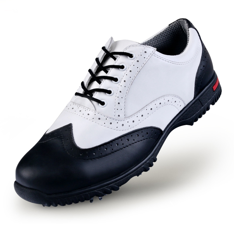 PGM Golf Shoes Sports Shoes Top-Grain Leather Lace-Up Men Sneakers Non-slip Shockproof Breathable Shoes for Men casual color block lace up breathable sports shoes for men
