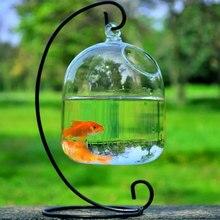 Креативная прозрачная подвесная стеклянная аквариумная Рыбная чаша, Цветочная ваза для растений, украшение ручной работы, подвесная миска, домашний декор для стен
