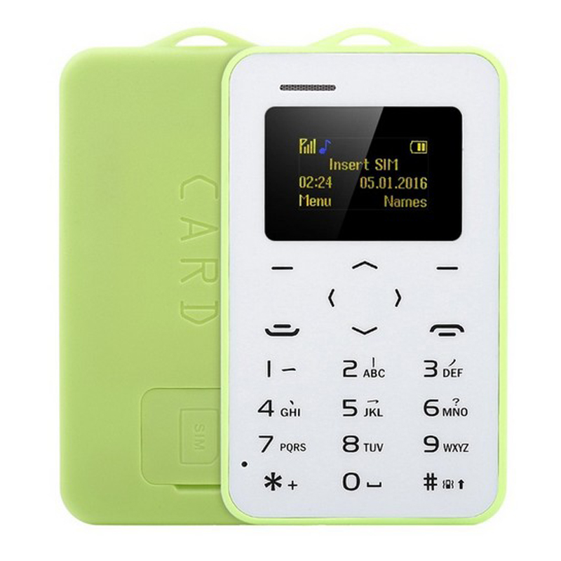 Original AEKU C6 Mini Emergency Card Phone With Backup Wallet Mobile CellPhone Ultrathin Student Version Bluetooth Dialer PK M5(China)