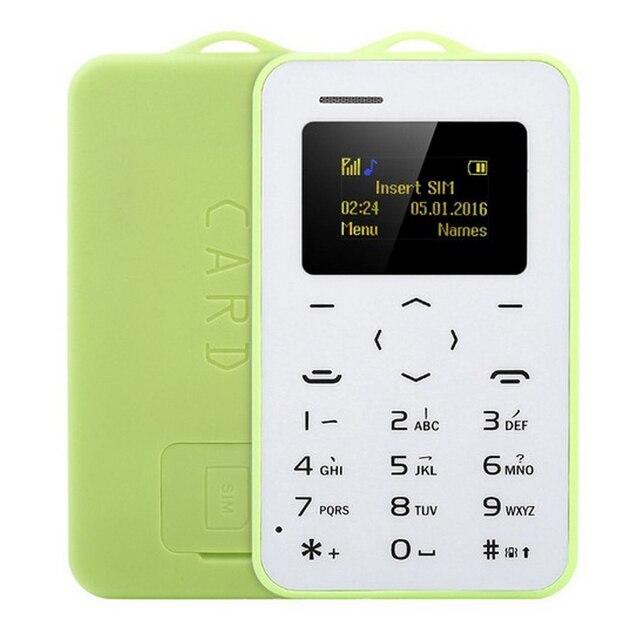 מקורי AEKU C6 מיני חירום כרטיס טלפון עם גיבוי ארנק נייד הסלולר Ultrathin תלמיד גרסת Bluetooth חייגן PK M5