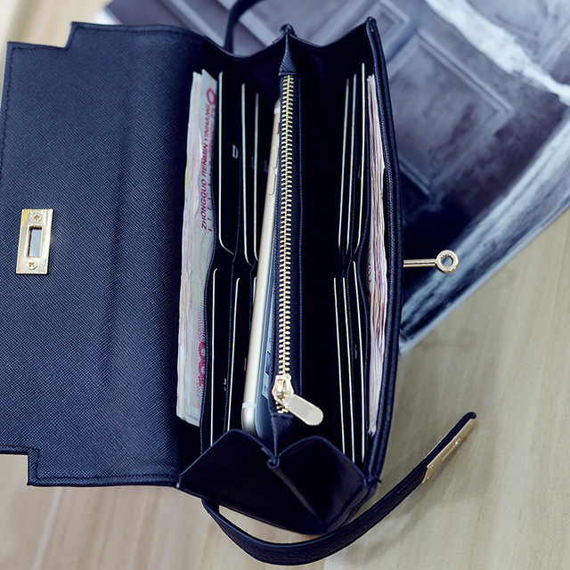 Fashion leather wallet dollar price luxury purses women wallets designer high quality card holder famous brand clutch 4