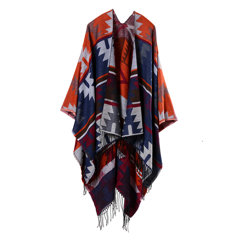 Geometric Diamond Pattern Tassels Ethnic Women Winter Shawl Large   Scarf     Wrap