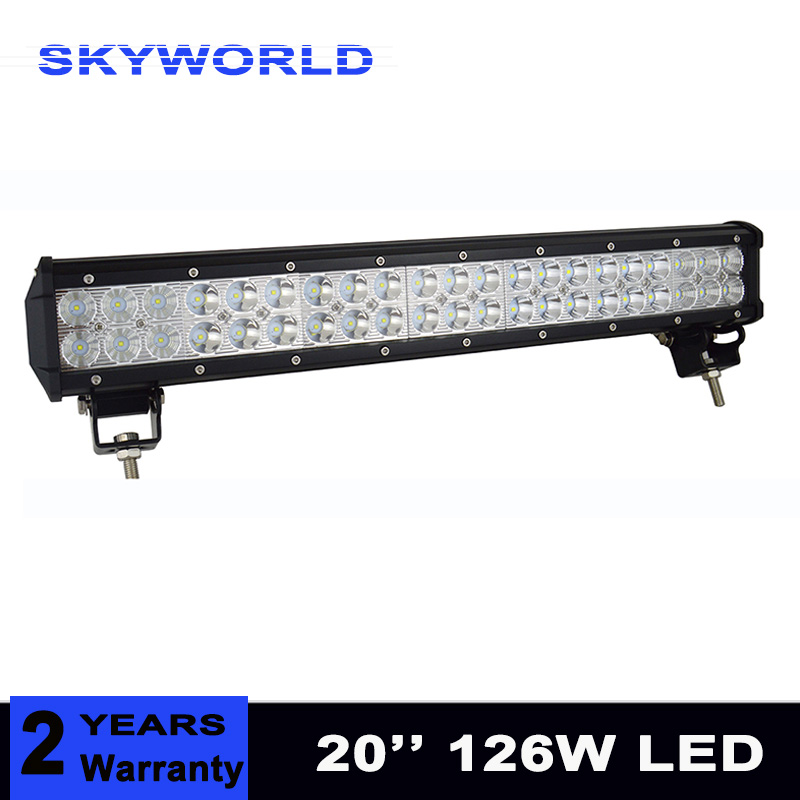20Inch 126W Combo Led Light Bars Spot Flood Beam for Work Driving Offroad Boat Car Tractor Truck 4x4 SUV ATV 12V 24V пуско зарядное устройство blue weld imperial 220 start 80вт 12 24в пуск 180а зарядка 30а 30 400ач