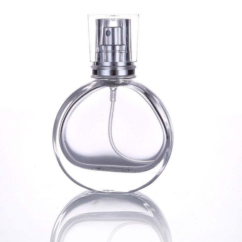 1Pcs25ml Mini Clear Glass Spray Perfume Bottle Portable Travel Refillable Cosmetics Empty Bottle Aluminum Spray Head 4