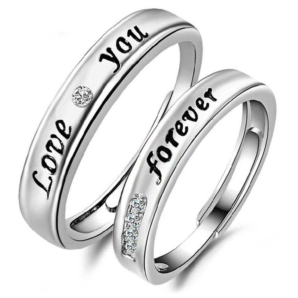 Для Мужчинs Для женщин Модные украшения Lover Английский Письмо печати обещание палец кольцо