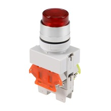цена на UXCELL 22mm Latching Push Button Switch With Green / Red LED Light Round Button DPST 1 NO 1 NC Light AC 220V Switch Accessories