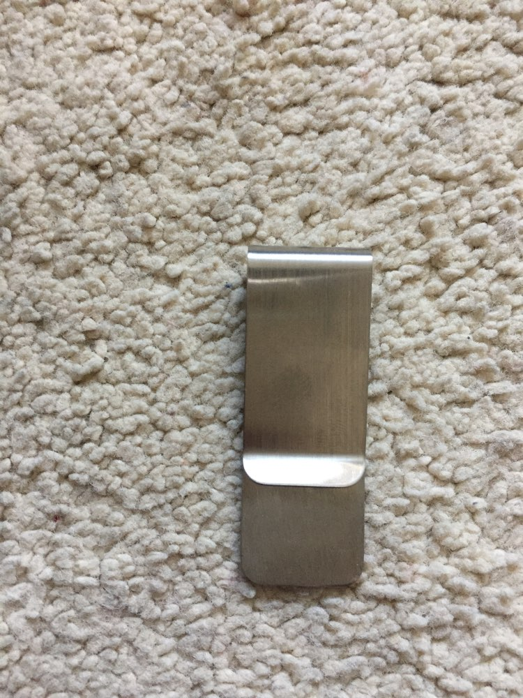 Metal Stainless Steel Money Clip Folder Collar Clip Holder for Pocket Purse photo review