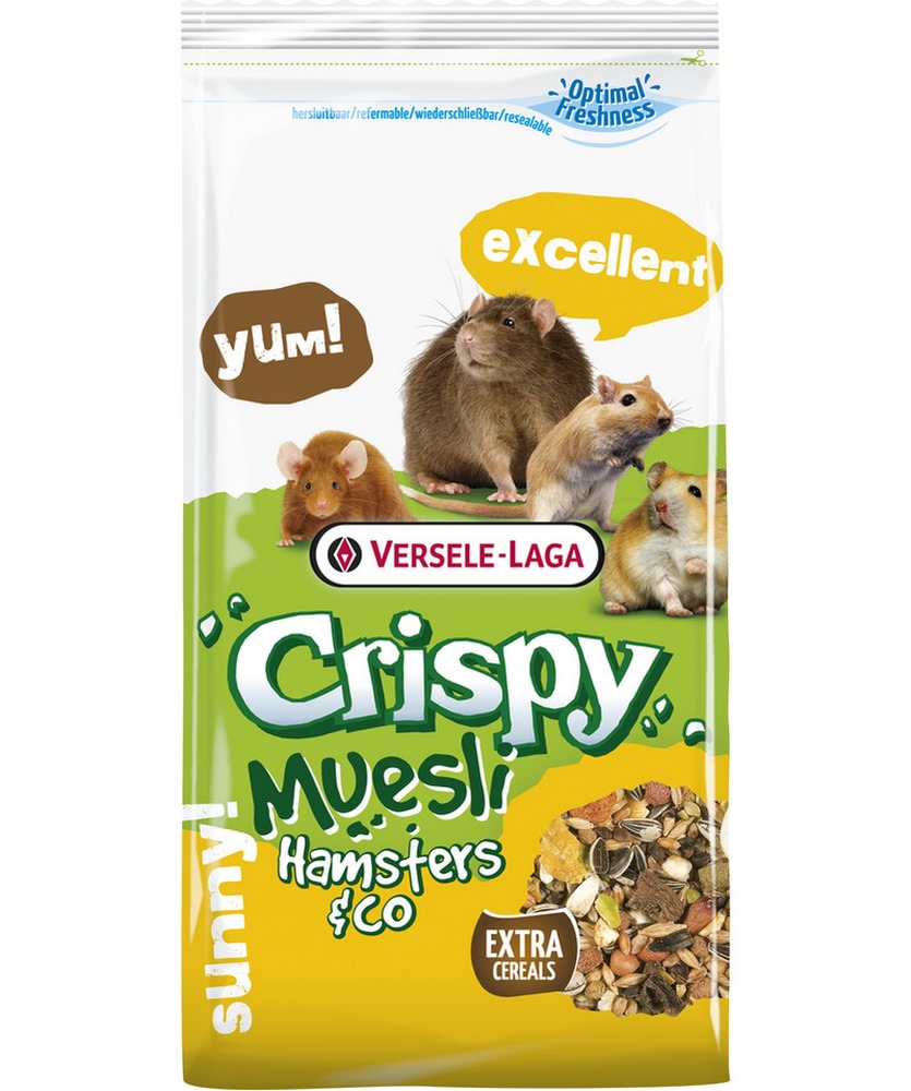 Rodent food  VERSELE-LAGA forage for hamsters and other rodents Crispy Muesli Hamsters & Co 1kg