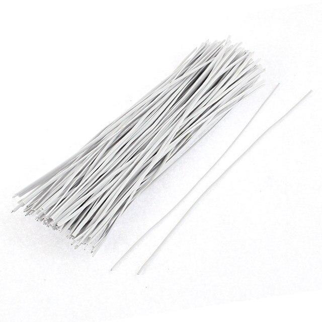 UXCELL 130 Stücke 150 Mm X 2 Mm Weiß Kunststoff Beschichtete Metall ...