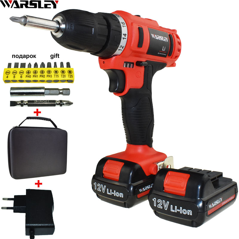 12V Electric Screwdriver Power Tools Battery Drill Cordless Drill Electric Drill Electric Tools Mini Electric Drilling Eu Plug dongcheng 220v 1010w electric impact drill darbeli matkap power drill stirring drilling 360 degree rotation power tools