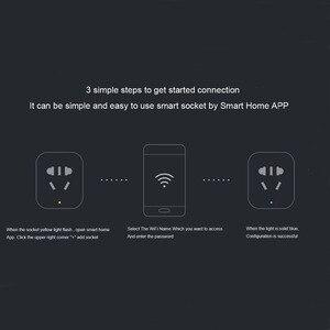 Image 5 - מקורי שיאו mi MI חכם שקע תקע Zigbee גרסת WiFi אלחוטי מרחוק שקע מתאם כוח טיימר מתג לסירוגין עם טלפון