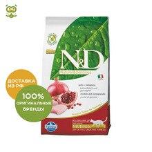 N&D Cat Chicken & Pomegranate Neutered корм для стерилизованных кошек и кастрированных котов, Цыпленок и гранат, 5 кг.