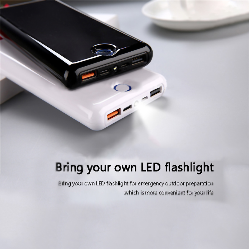 Fashion Quick Charge 3.0 Power Bank 20000mAh 2 Outputs Dual USB QC3.0 External Battery Charger Powerbank For Xiaimi Mobile Phone usb battery bank charger