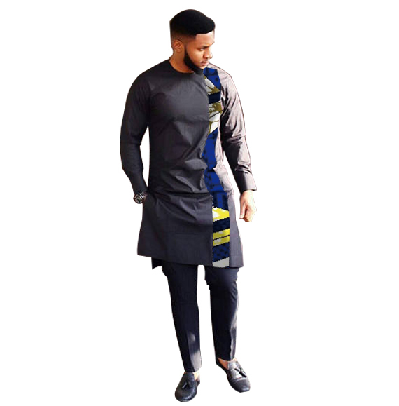 Fashion African Print Clothing Men Tops+Trousers Set Shirts And Pants Sets Festive Costume African Men Clothes Customize 4
