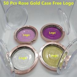 50pcs Round 1-Pair Eyelash Case for Strip False Eyelashes Cute Cases for Girl Lash Makeup Tool Free Customize Logo Free DHL