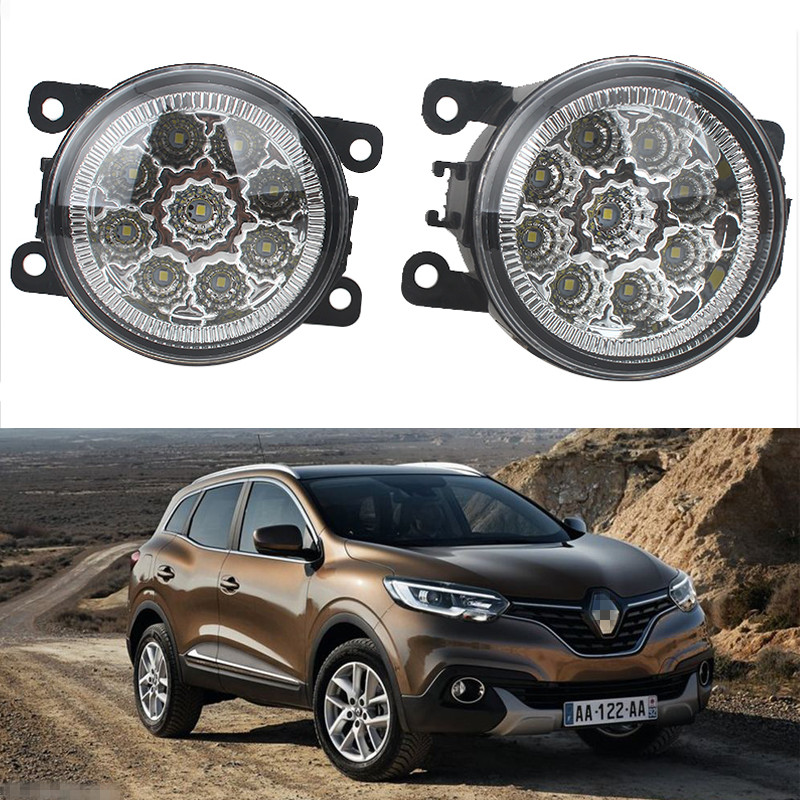 6000K CCC 12V car-styling For Renault Fluence L30 2010-2015 STEPWAY 2002-2014 DRL Fog Lamps lighting LED Lights 9W /1 SET 2 pcs set car styling 6000k ccc 12v 55w drl fog lamps lighting for renault megane 2 estate 2002 2015 35500 63j02