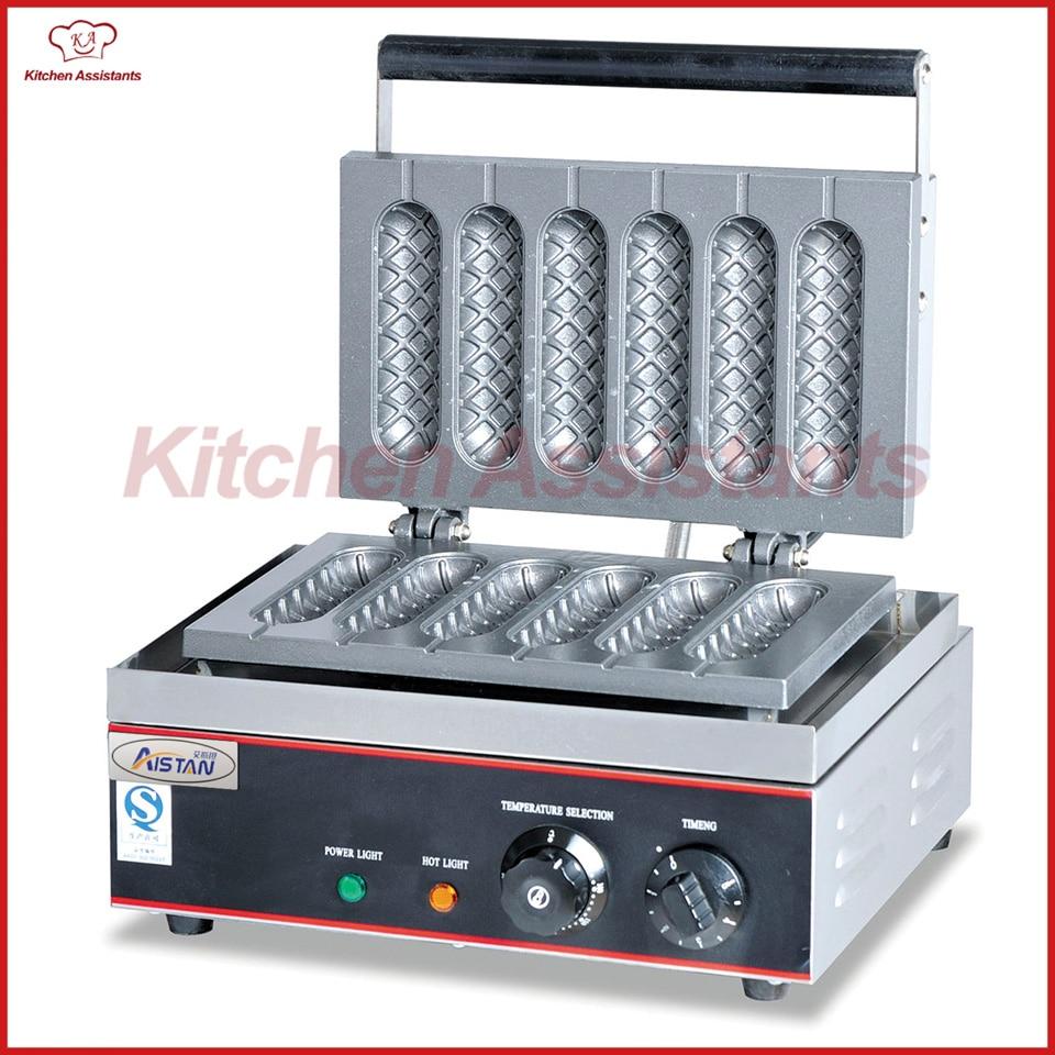 EG6X electric commercial desktop crisp maker baking machine electric 6holes  slot crisp balls