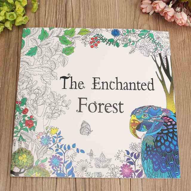 235 El Bosque Encantado De Inglés Para Adultos Juguetes Educativos De Dibujo De Graffiti Para Colorear Los Niños Libros De Pintura Regalo Para