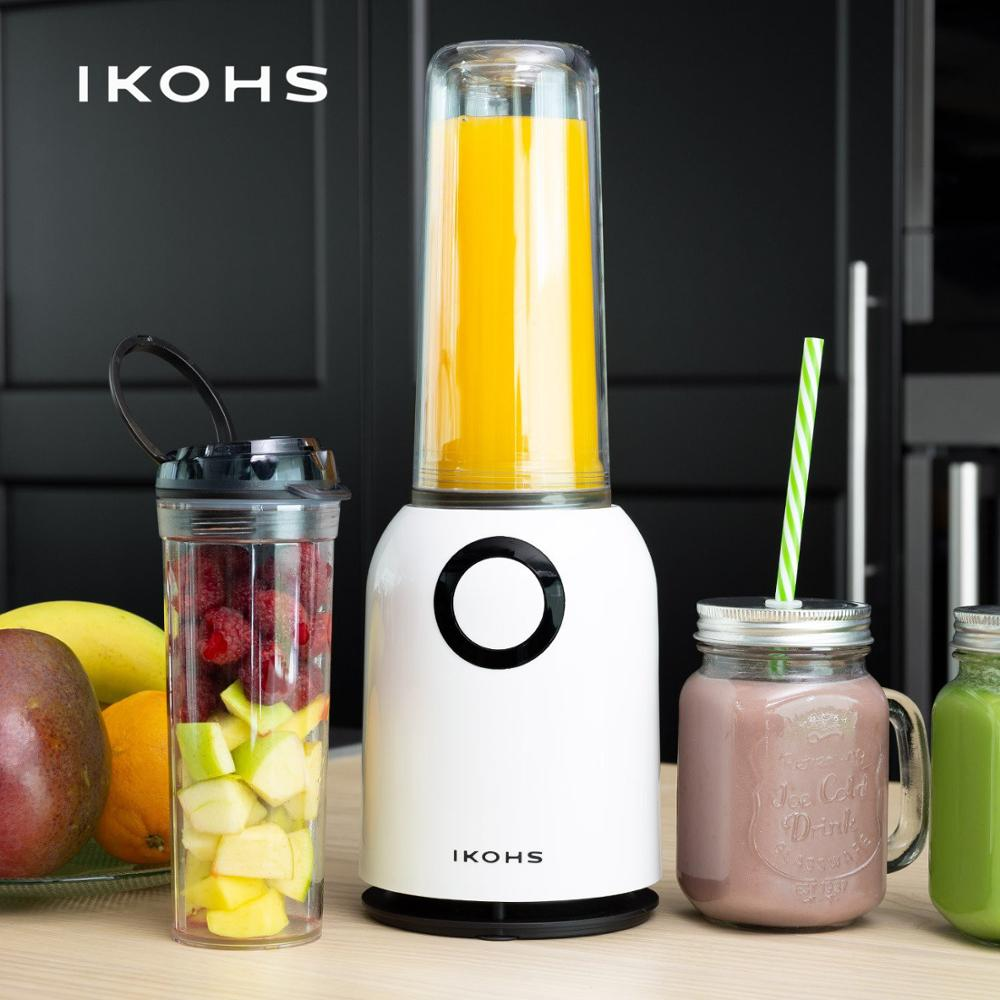 IKOHS-OSIT G.L.A.S.S Mixer Healthy Portable Fruit Juicer 400ml 250W Professional Blender Juices Smoothies Faster
