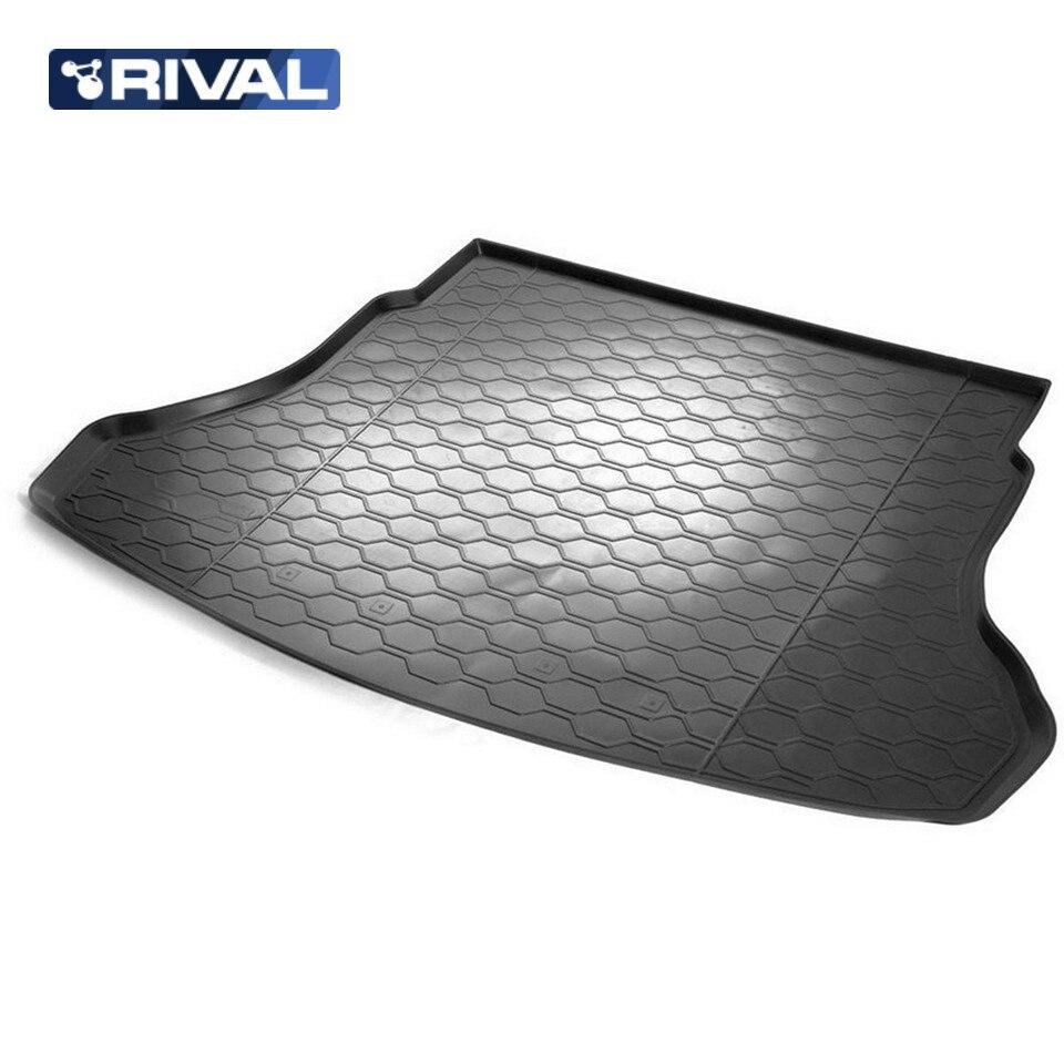 лучшая цена For Hyundai Solaris 2017-2019 SEDAN  trunk mat Rival 12305008