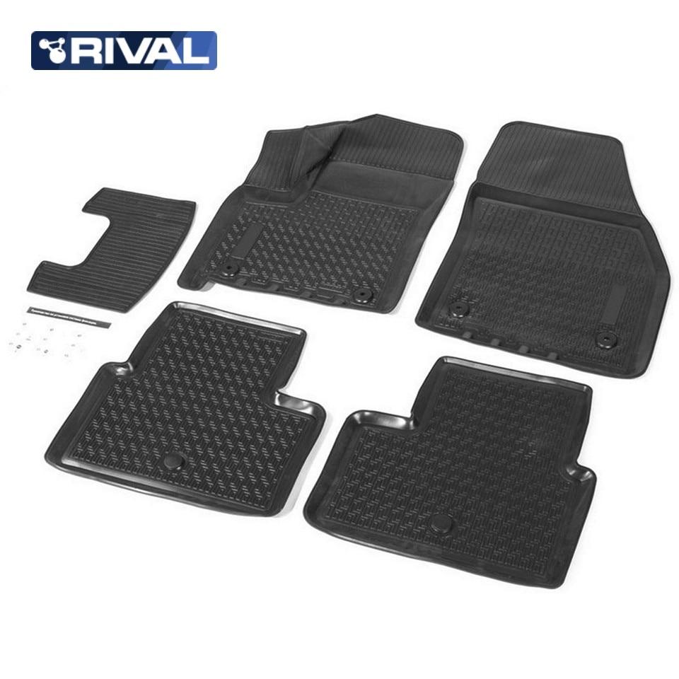 For Opel Meriva 2010-2015 3D floor mats into saloon 5 pcs/set Rival 14205001 3d floor mats into saloon for nissan x trail t32 2015 2019 5 pcs set rival 14109001