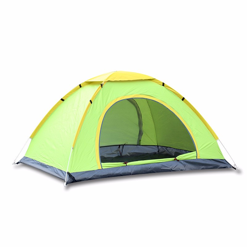 Good Quality 3-4 Persons Tent Sunshade Automatic Quick Opening Single Layer Waterproof UV Shade Camping Hiking Tent automatic outdoor camping tent 3 persons 4 person waterproof double layer tent foldable quick opening 3 season hiking travel