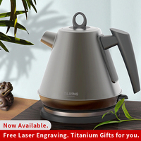 Hot Sale Titanium Water Boiling Kettle 1.2L Electrical Heating Boiling Teapot Safe Auto Power Protection System Business Home