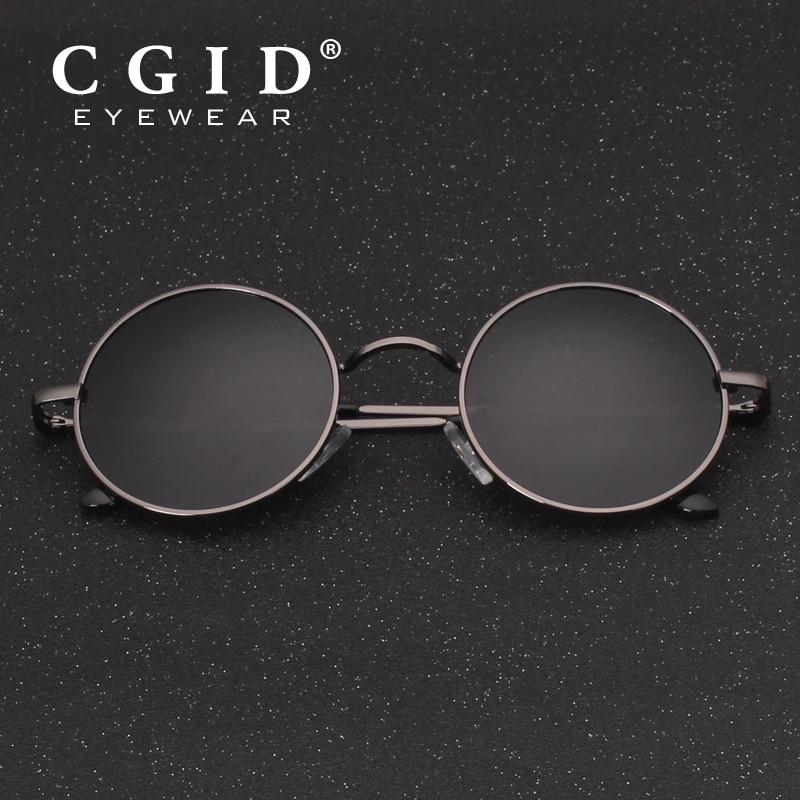 1c29cb67274a7 CGID 2018 Redondos Lennon Óculos Polarizados Retro Vintage Inspirado Metal  Círculo Preto óculos de Sol para