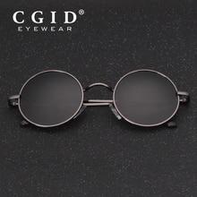 CGID 2018 Round Lennon Sunglasses Polarized Retro Vintage Inspired Metal Circle Black Sun glasses for Men and Women Fashion E01
